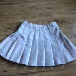 Pale Pink Pleated Skirt sm